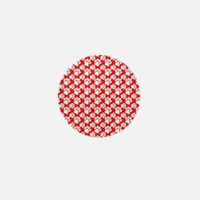 Dog Paws Red Mini Button