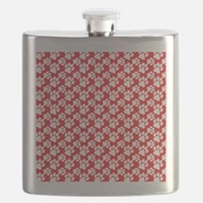 Dog Paws Red Flask