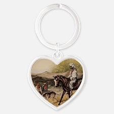 Bedouin Rider Heart Keychain
