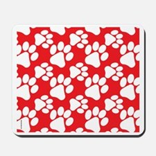 Dog Paws Red-Small Mousepad