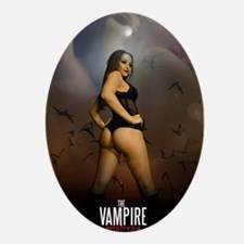 The Vampire Mistress Poster Oval Ornament