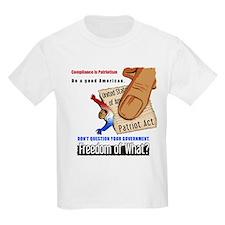 Freedom Political Kids T Shirt (Light)