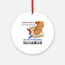 Freedom Political Keepsake Ornament (Round)