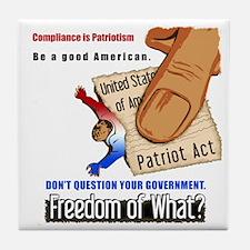 Freedom Political Tile Drink Coaster
