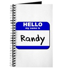 hello my name is randy Journal