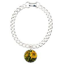 Sunflower Charm Bracelet, One Charm