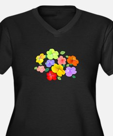 Spring Flowers in Bloom Women's Plus Size V-Neck D