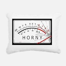 Horny-meter Rectangular Canvas Pillow