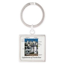 Lighthouses of Puerto Rico Square Keychain