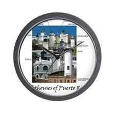 Lighthouses of Puerto Rico Wall Clock