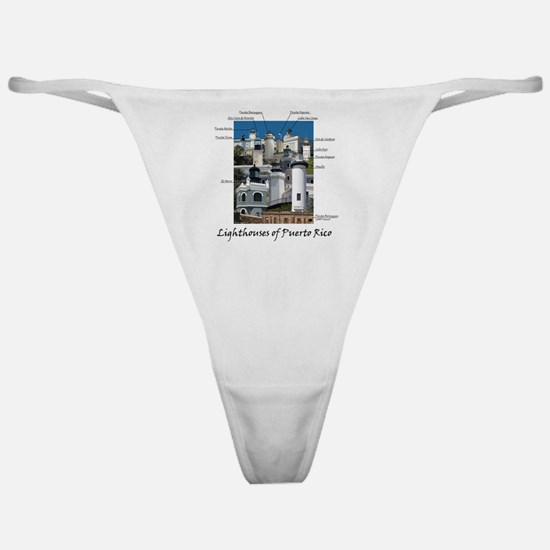 Lighthouses of Puerto Rico Classic Thong