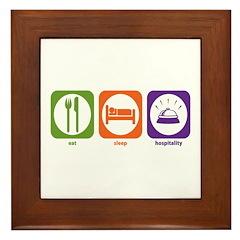 Eat Sleep Hospitality Framed Tile