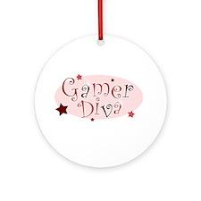 Gamer Diva [red] Ornament (Round)