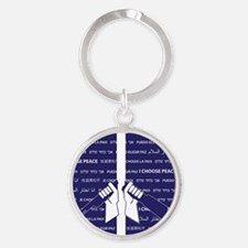 I Choose Peace Round Keychain