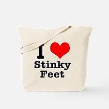 I Heart (Love) Stinky Feet Tote Bag