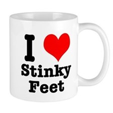 I Heart (Love) Stinky Feet Mug