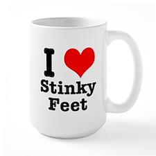 I Heart (Love) Stinky Feet Mug