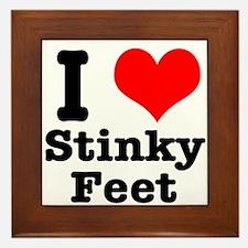 I Heart (Love) Stinky Feet Framed Tile
