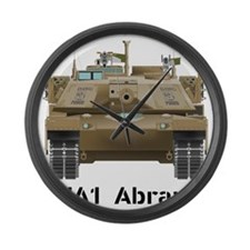 M1A1 Abrams MBT Front View Large Wall Clock