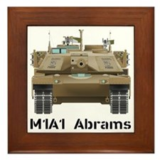 M1A1 Abrams MBT Front View Framed Tile