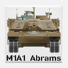 M1A1 Abrams MBT Front View Tile Coaster