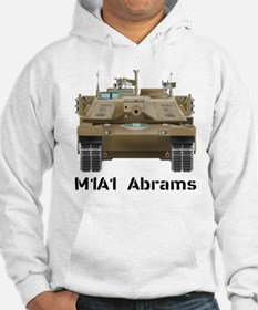 M1A1 Abrams MBT Front View Hoodie