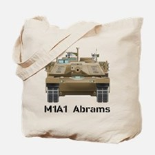 M1A1 Abrams MBT Front View Tote Bag