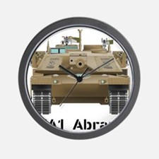 M1A1 Abrams MBT Front View Wall Clock