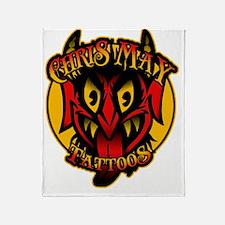 Chris May Devil shirt Throw Blanket
