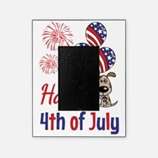 Happy 4th Doggy with Balloons Picture Frame