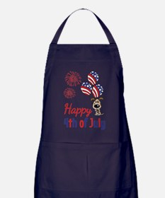 Happy 4th Doggy with Balloons Apron (dark)