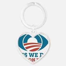 Yes We Do Spy On You (Obama Eye) Heart Keychain