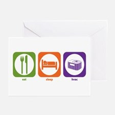 Eat Sleep HVAC Greeting Cards (Pk of 10)