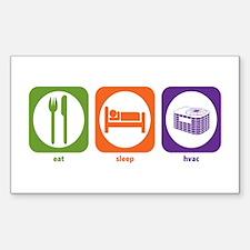 Eat Sleep HVAC Rectangle Decal