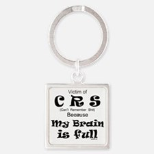 My Brain is Full Square Keychain
