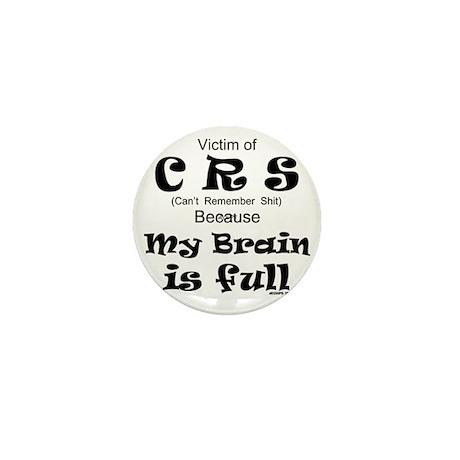 My Brain is Full Mini Button