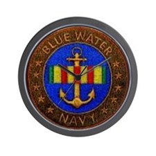 Blue Water Navy Wall Clock