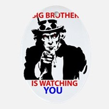 Big Brother is Watching You Oval Ornament