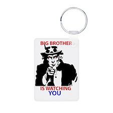 Big Brother is Watching Yo Aluminum Photo Keychain