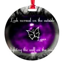 Through the eye of lupus Ornament