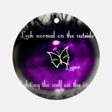 Through the eye of lupus Round Ornament