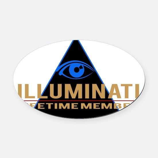 Illuminati Member T-shirt Oval Car Magnet