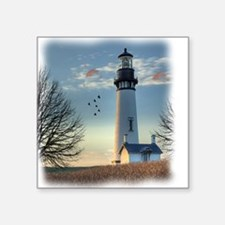 "Sunset_Lighthouse Square Sticker 3"" x 3"""