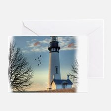Sunset_Lighthouse Greeting Card