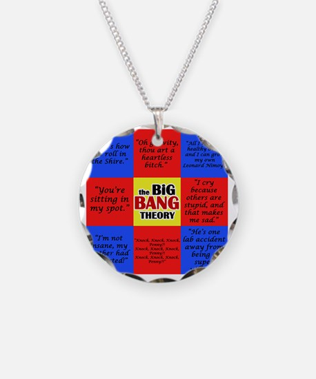Big Bang Quotes Color Necklace Circle Charm