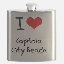 I Love CAPITOLA CITY BEACH Flask