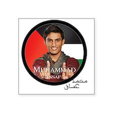 "muhammad assaf Square Sticker 3"" x 3"""