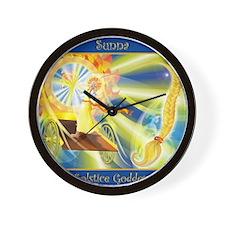 Sunna Solstice Goddess Wall Clock