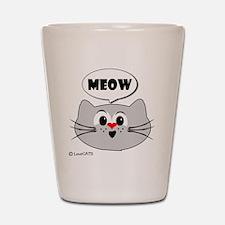meow love cats Shot Glass