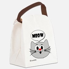 meow love cats Canvas Lunch Bag